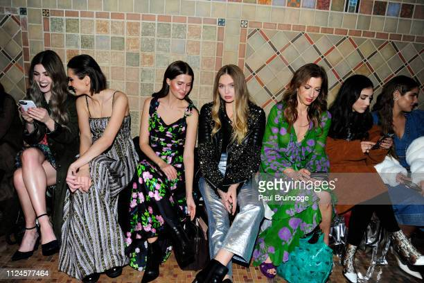 Charlotte Lawrence Jessica Markowski Elena Matei and Alysia Reiner attend the Cynthia Rowley front row during New York Fashion Week The Shows on...
