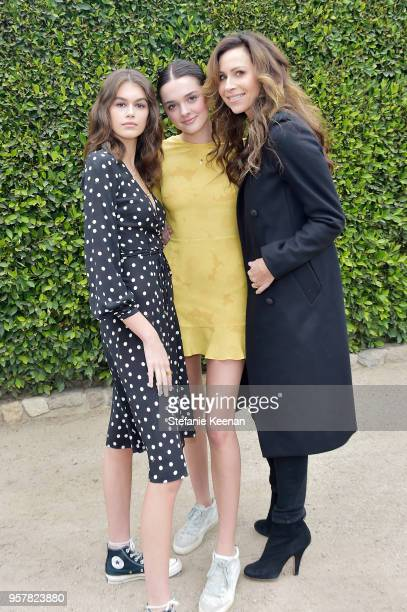 Charlotte Lawrence Minnie Driver and Kaia Gerber attend 2018 Best Buddies Mother's Day Brunch Hosted by Vanessa Gina Hudgens on May 12 2018 in Malibu...