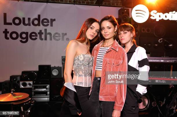 Charlotte Lawrence Nina Nesbitt and Sasha Sloan attend Spotify's Louder Together event celebrating the first ever collaborative Spotify single with...