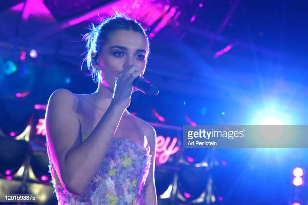 Charlotte Lawrence performs on stage at Birds Of Prey A Night Of Music And Mayhem In HARLEYWOODat DREAM Hollywood on January 23 2020 in Hollywood...