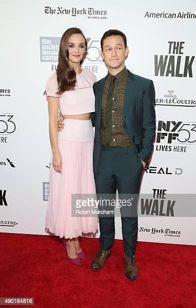 Charlotte Le Bon and Joseph GordonLevitt attend the Opening Night Gala Presentation and The Walk World Premiere during 53rd New York Film Festival at...