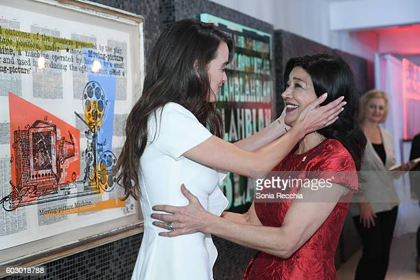 Charlotte Le Bon and Shohreh Aghdashloo attend W Magazine NKPR IT House x Producers Ball Studio on September 11 2016 in Toronto Canada