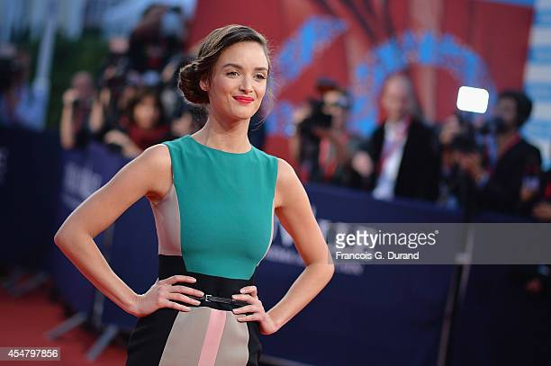 Charlotte Le Bon arrives at the 'Hundred Foot Journey' premiere during the 40th Deauville American Film Festival on September 6 2014 in Deauville...