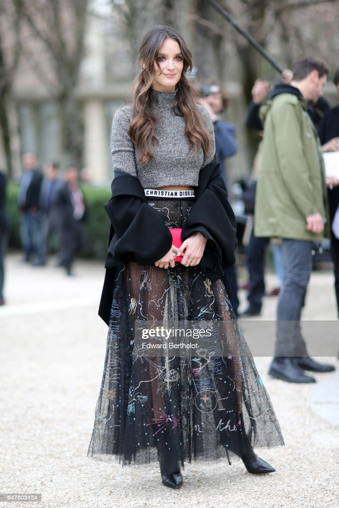 Charlotte Le Bon attends the Christian Dior show as part of the Paris Fashion Week Womenswear Fall/Winter 2017/2018 on March 3, 2017 in Paris, France.