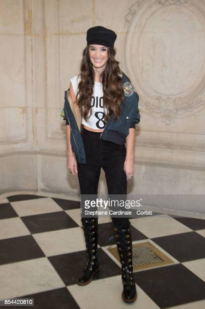 Charlotte Le Bon attends the Christian Dior show as part of the Paris Fashion Week Womenswear Spring/Summer 2018 at on September 26 2017 in Paris...