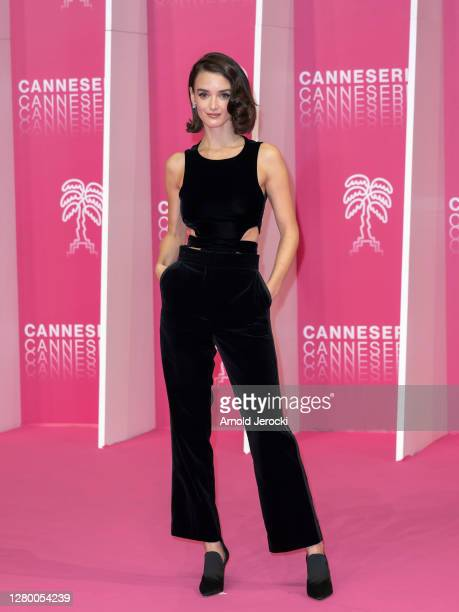 Charlotte Le Bon attends the Pink Carpet : Day Five at the 3rd Canneseries on October 13, 2020 in Cannes, France.