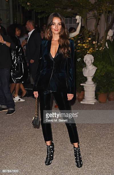Charlotte Le Bon wearing Burberry at the Burberry September 2016 show during London Fashion Week SS17 at Makers House on September 19 2016 in London...