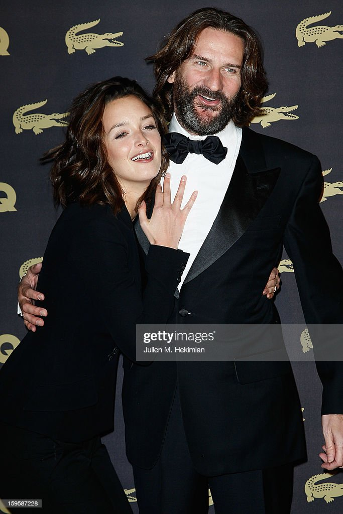 Charlotte Lebon and Frederic Beigbeder attend GQ Men of the year awards 2012 at Musee d'Orsay on January 16, 2013 in Paris, France.