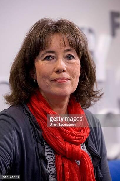 Charlotte Link German writer at the Frankfurt Book Fair on October 09 2014 in Frankfurt Germany