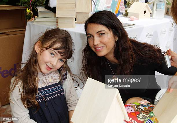 Charlotte McDermott and actress Shiva Rose attend Stella McCartney Celebrates Going Back To School With Children's Action Network on September 17...