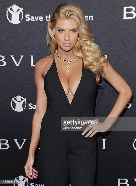 Charlotte McKinney arrives at BVLGARI And Save The Children STOP THINK GIVE PreOscar Event at Spago on February 17 2015 in Beverly Hills California