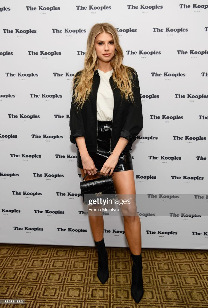 Charlotte McKinney at The Kooples and Emily Ratajkowski LA Cocktail Event at Chateau Marmont on December 4, 2017 in Los Angeles, California.