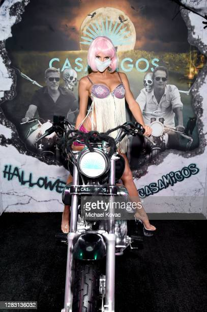 Charlotte McKinney attends Casamigos Halloween Comes to You in Los Angeles, California.