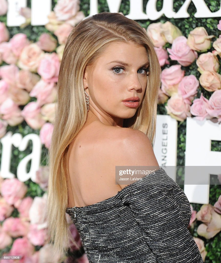 Charlotte McKinney attends Max Mara and Vanity Fair's celebration of Women In Film's Face of the Future Award recipient, Zoey Deutch at Chateau Marmont on June 12, 2017 in Los Angeles, California.