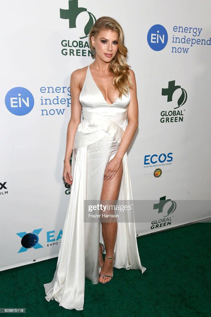 Charlotte McKinney attends the 15th Annual Global Green Pre-Oscar Gala on February 28, 2018 in Los Angeles, California.