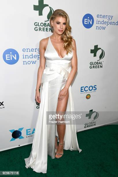 Charlotte McKinney attends the 15th Annual Global Green PreOscar Gala on February 28 2018 in Los Angeles California