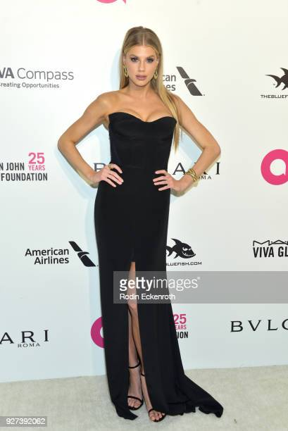 Charlotte McKinney attends the 26th annual Elton John AIDS Foundation's Academy Awards Viewing Party at The City of West Hollywood Park on March 4...