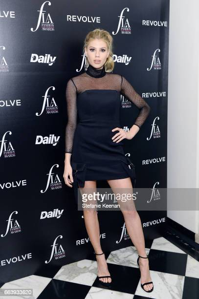 Charlotte McKinney attends The Daily Front Row and REVOLVE FLA after party at Mr. Chow hosted by Mert Alas on April 2, 2017 in Los Angeles,...
