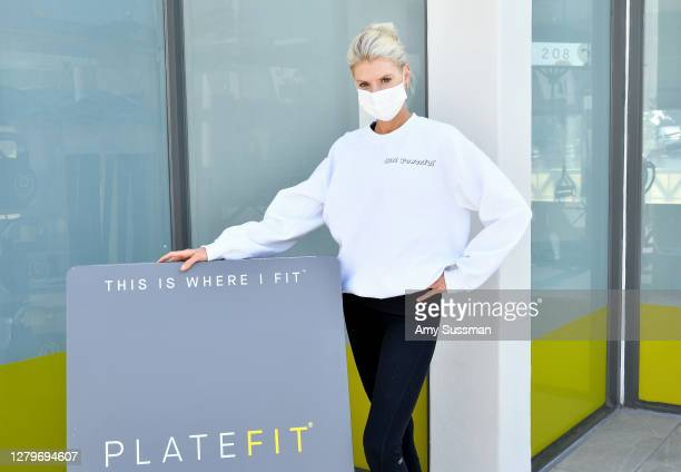 Charlotte McKinney attends the International Day of the Girl fundraiser class with special guest Charlotte McKinney, hosted by PLATEFIT x Girl...