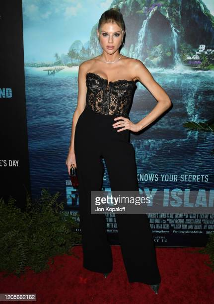 Charlotte McKinney attends the premiere of Columbia Pictures' Blumhouse's Fantasy Island at AMC Century City 15 on February 11 2020 in Century City...