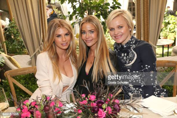 Charlotte McKinney Denise Richards Dr Barbara Sturm during the NetAPorter lunch at hotel Chateau Marmont on February 24 2017 in Los Angeles California