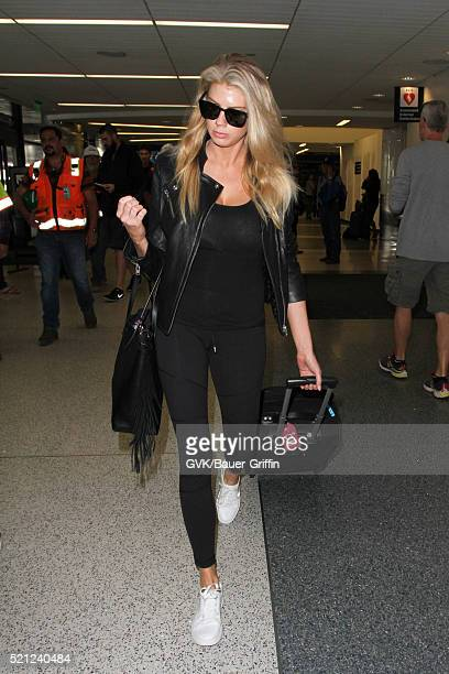 Charlotte McKinney is seen at LAX on April 14 2016 in Los Angeles California