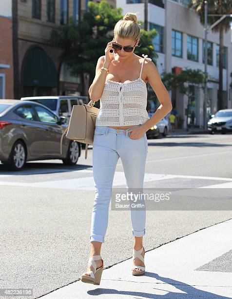 Charlotte McKinney is seen in Beverly Hills on July 28 2015 in Los Angeles California