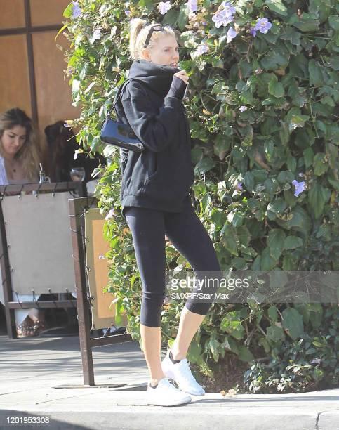 Charlotte McKinney is seen on February 19, 2020 in Los Angeles, California.