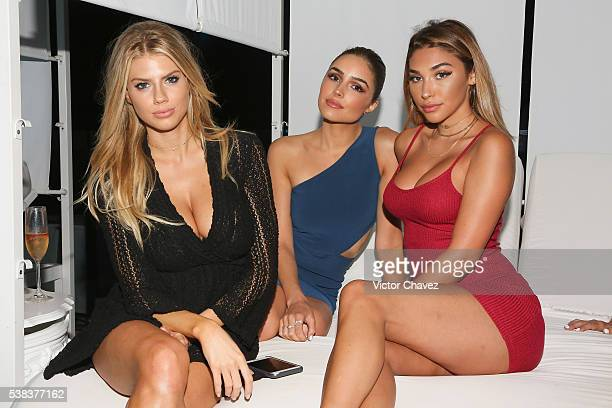 Charlotte McKinney Olivia Culpo and Chantel Jeffries attends the ME Cabo resort grand reopening party with Blue Marlin Ibiza on June 4 2016 in Cabo...
