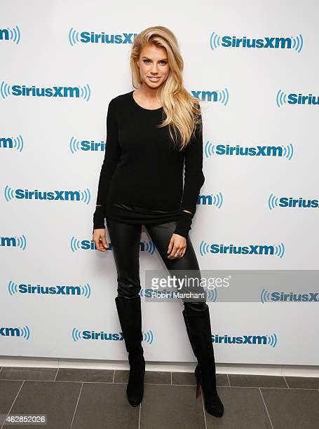 Charlotte Mckinney visits at SiriusXM Studios on February 6 2015 in New York City