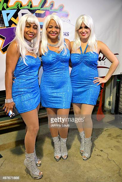 Charlotte McKinnon Susan Johnson and Rachel Leslie of Company B backstage during 30th Anniversary of Freestyle concert at Bank United Center on...