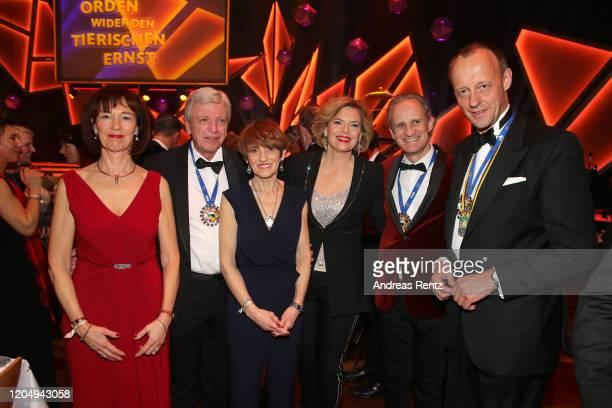 Charlotte Merz Volker Bouffier Ursula Bouffier Julia Kloeckner Ralph Grieser and Friedrich Merz attend the awarding of the medal Wider den tierischen...