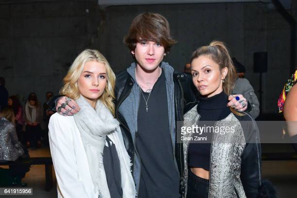 Charlotte Moss GabrielKane DayLewis and Elizabeth Sulcer attends the Zadig Voltaire show during New York Fashion Week at Skylight Modern on February...