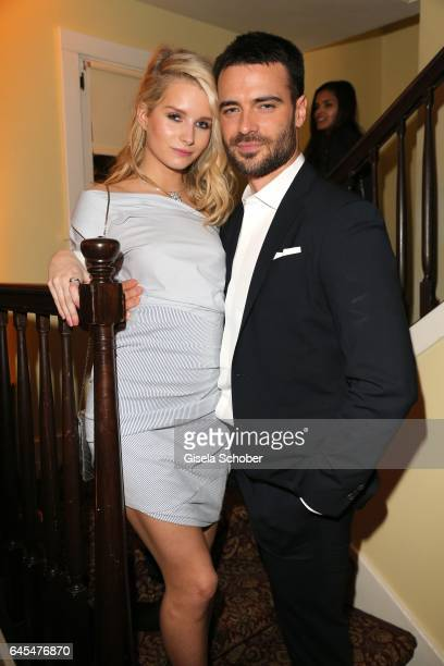 Charlotte Moss half sister of Kate Moss and Giulio Berruti during the Bulgari PreOscars party at hotel Chateau Marmont on February 25 2017 in Los...