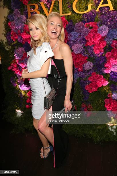 Charlotte Moss half sister of Kate Moss and Princess Lilly zu SaynWittgensteinBerleburg during the Bulgari PreOscars party at hotel Chateau Marmont...