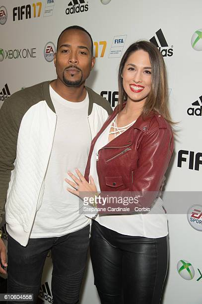 Charlotte Namura and guest attend the Fifa 17 Xperience Party at Le Cercle Cadet on September 26 2016 in Paris France