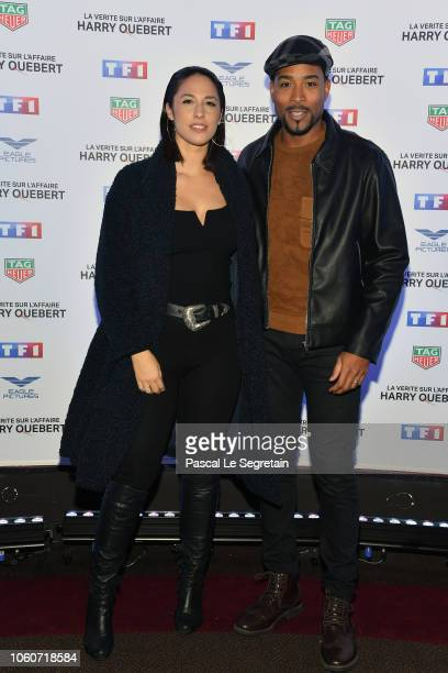 "Charlotte Namura and Jean-Luc Guizonne attend ""The Truth About The Harry Quebert Affair"" Premiere at Cinema Gaumont Marignan on November 12, 2018 in..."