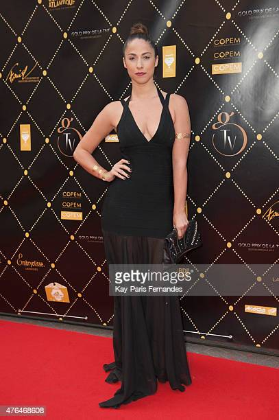 Charlotte Namura attends the 'Gold Prix De La TNT' Award Ceremony At Bobino Theatre in Paris on June 9 2015 in Paris France