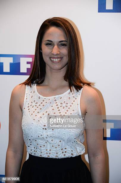 Charlotte Namura during a photocall at TF1 on May 17, 2016 in Paris, France.