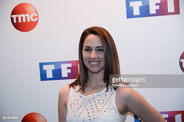 Charlotte Namura during a photocall at TF1 on May 17 2016 in Paris France