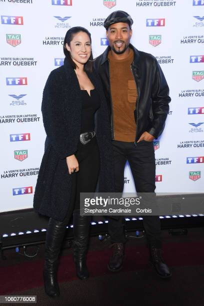 Charlotte Namura-Guizonne and her husband Jean-Luc Guizonne attend 'The Truth About The Harry Quebert Affair' Premiere at Cinema Gaumont Marignan on...