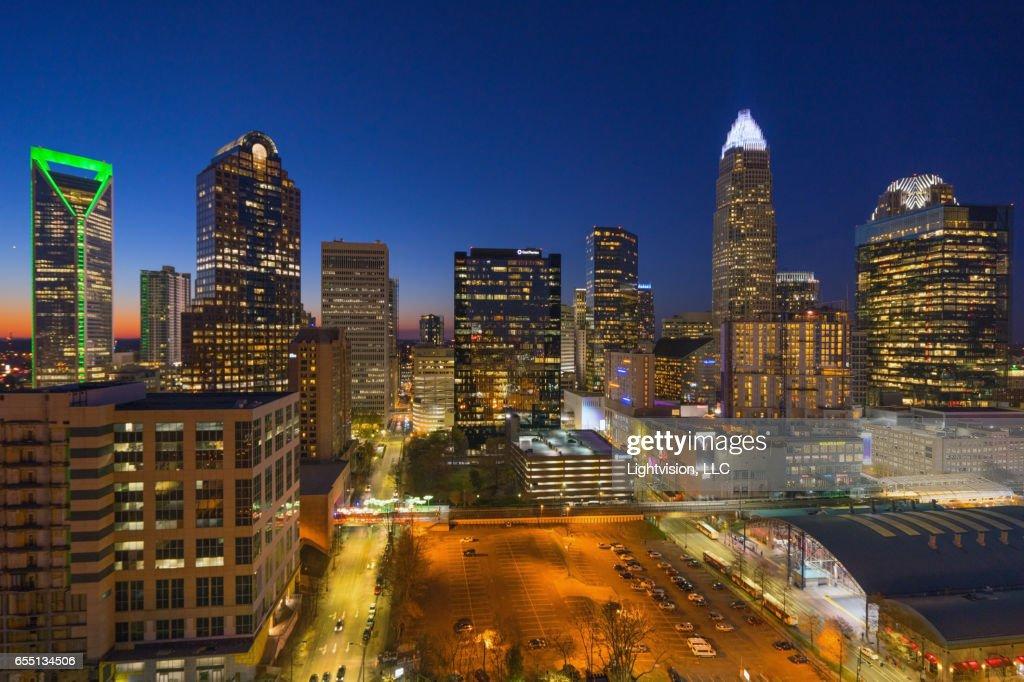 Charlotte, North Carolina Skyline : Stock Photo