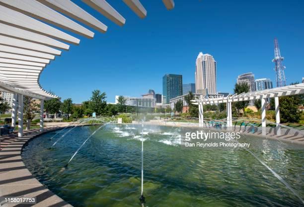 charlotte, north carolina usa - first ward park - charlotte north carolina stock pictures, royalty-free photos & images