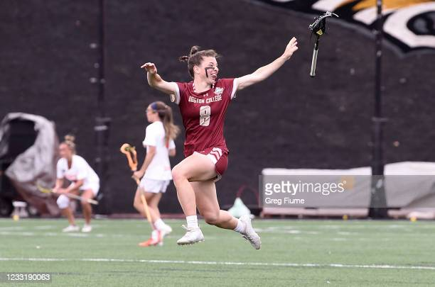Charlotte North of the Boston College Eagles celebrates after winning the Division I Women's Lacrosse Championship 16-10 against the Syracuse Orange...