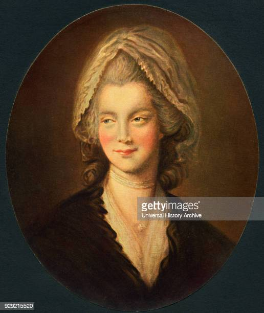 Charlotte of MecklenburgStrelitz 1744 to 1818 Queen consort of the United Kingdom as wife of King George III From the book The Connoisseur...