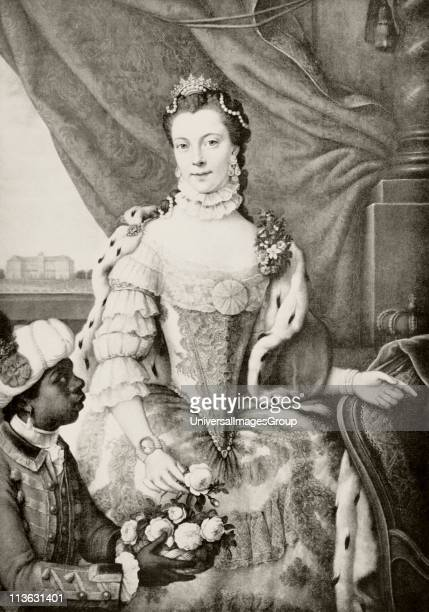 Charlotte of MecklenburgStrelitz 1744 to 1818 Queenconsort of United Kingdom as wife of King George III From the book Buckingham Palace It's...