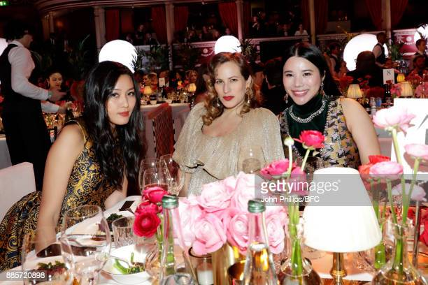 Charlotte Olympia and Wendy Yu attend The Fashion Awards 2017 in partnership with Swarovski at Royal Albert Hall on December 4 2017 in London England