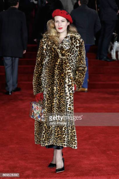 Charlotte Olympia attends the 'Murder On The Orient Express' World Premiere at Royal Albert Hall on November 2 2017 in London England