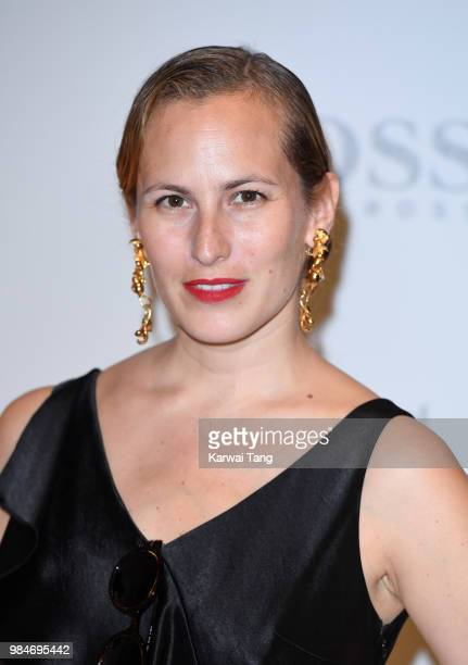Charlotte Olympia Dellal attends the 'Michael Jackson On The Wall' Private View sponsored by HUGO BOSS at the at National Portrait Gallery on June 26...