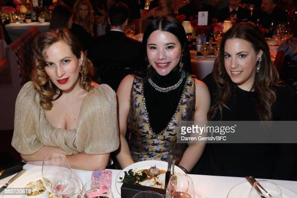 Charlotte Olympia Wendy Yu and Mary Katrantzou attend The Fashion Awards 2017 in partnership with Swarovski at Royal Albert Hall on December 4 2017...